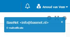 E-mailnotificatie in uw BaseNet omgeving