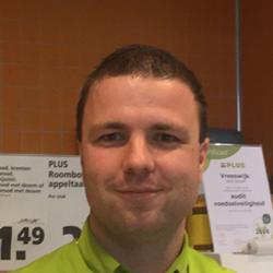 Christiaan Schoelitsz, bedrijfsleider bij PLUS Nageljongenstraat